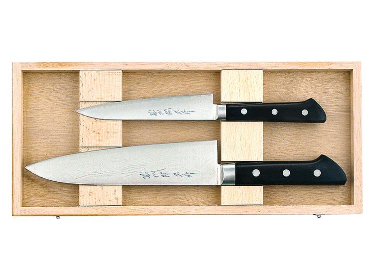 gaignard millon couteaux japonais de cuisine coffret de 2 couteaux de masatsune. Black Bedroom Furniture Sets. Home Design Ideas