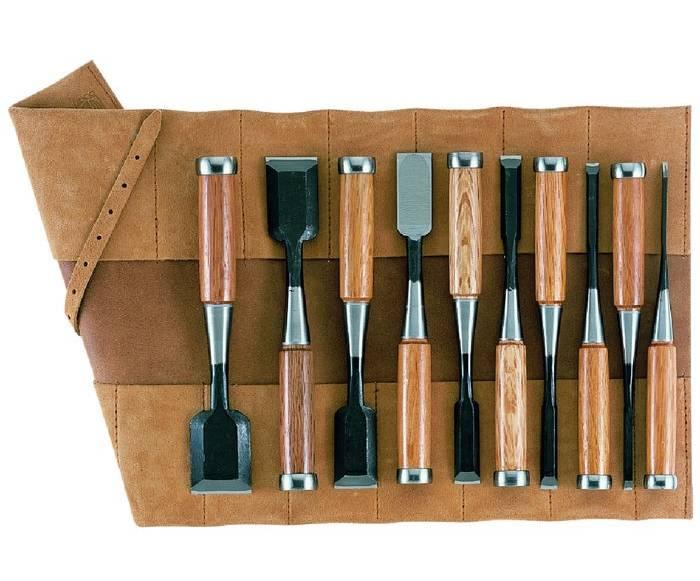 gaignard millon ciseaux bois japonais tataki nomi trousse cuir de 10 ciseaux japonais. Black Bedroom Furniture Sets. Home Design Ideas